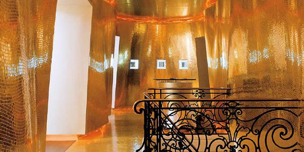 Bisazza Gold Mosaic at Maison Guerlain, Paris