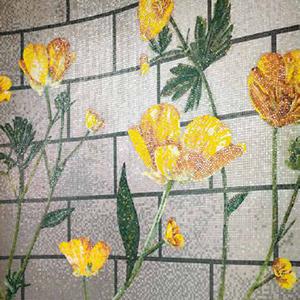 Floral mosaic design RANUNCULUS