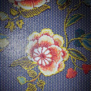 Fabric Blue Oro Mosaic Tiles