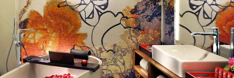 Mira Moon bathroom interior design mosaic