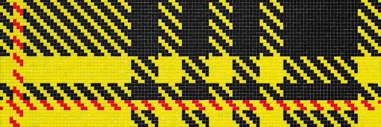 Bisazza ALBERT yellow mosaic by Ferruccio Laviani