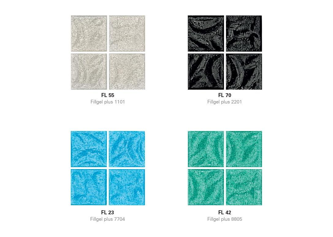 Flow Mosaic with Hotmelt Tile Sheet