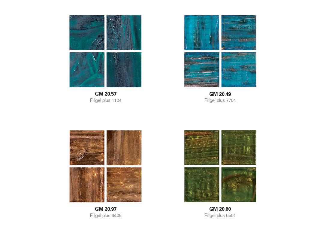 Le Gemme 20 Mosaic with Hotmelt Tile Sheet