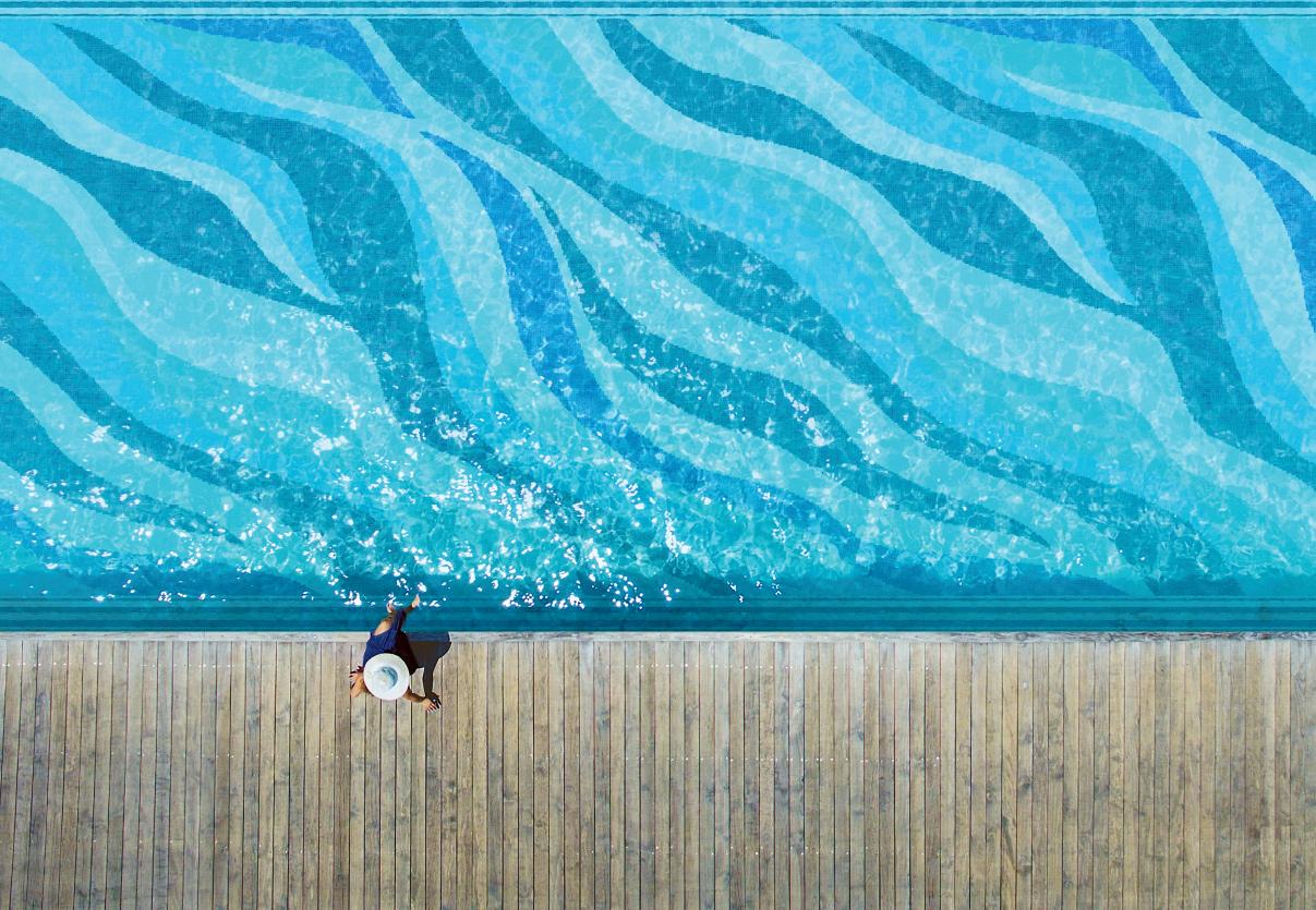 Onde Blu Pool Mosaic