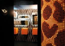 Bisazza mosaic at the Mini Lounge