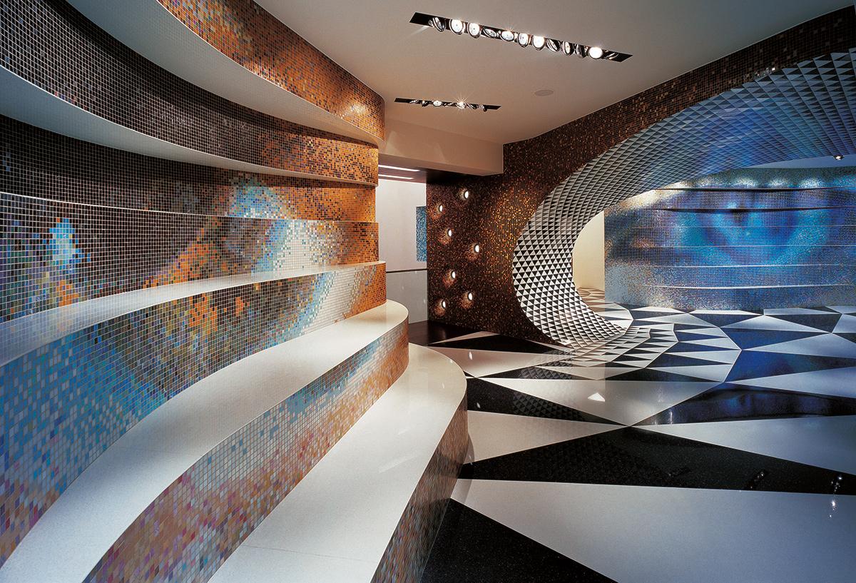 Fabio Novembre's incredible Bisazza mosaic interior design