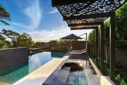A spectacular pool design utilising two Bisazza mosaics