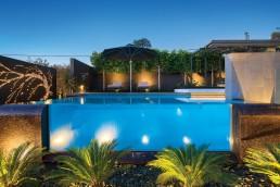 An award winning pool design utilising two Bisazza mosaics