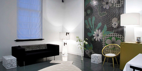 Bisazza mosaic featured at Lute Suites, Amsterdam