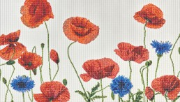 Hameau floral mosaic by Carlo Dal Bianco