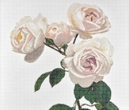 Malmaison Avorio floral mosaic by Carlo Dal Bianco
