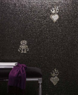 Luxe Mosaic Pattern Hearts & Robots