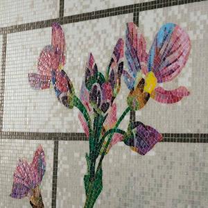 Floral mosaic design CALYSTEGIA