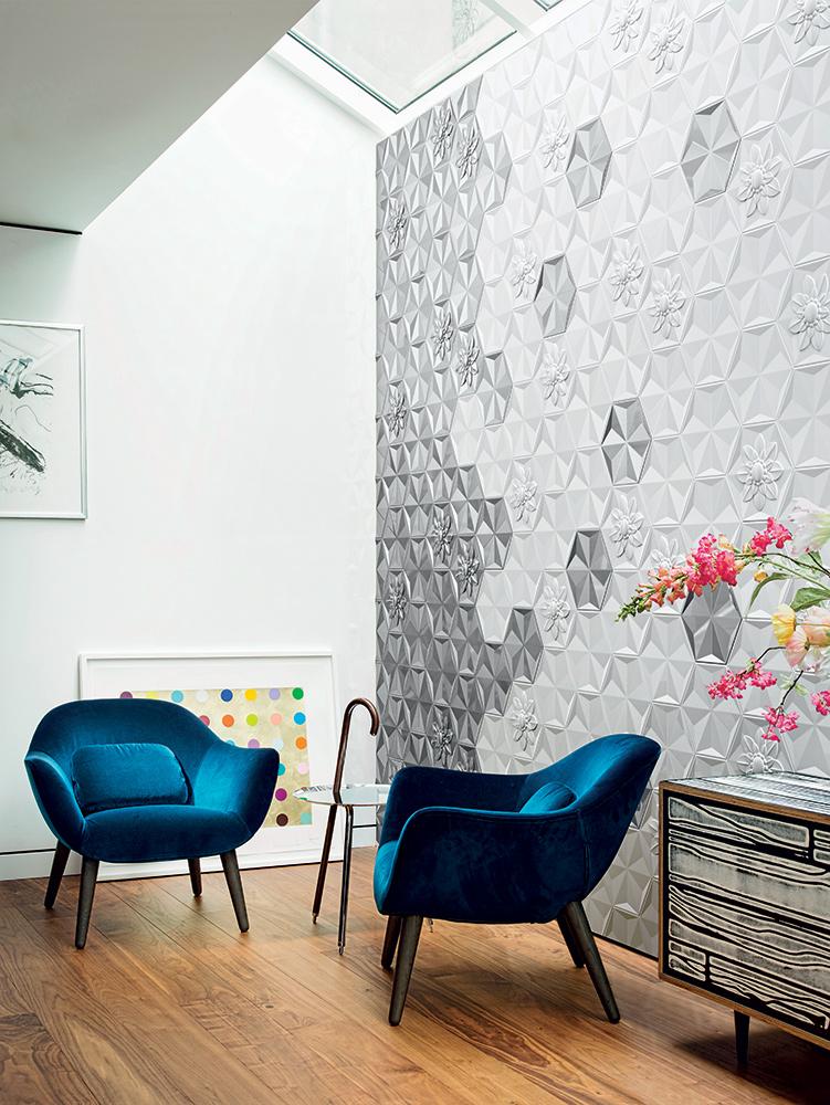Bisazza Frozen Garden Platinum Ceramic Tiles