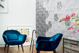 Bisazza Frozen Garden Platinum Ceramic Tiles