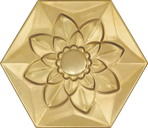 Bisazza Gold Frozen Garden Flower