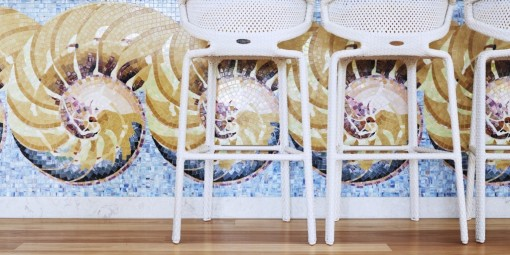 Bisazza mosaic at the Byron Bay Resort interior design project