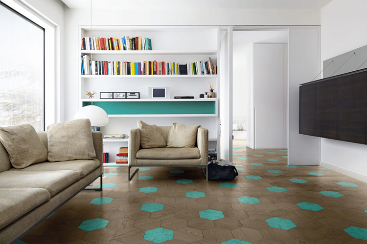 Bisazza WOOD, Central Play, designed by Kiki van Eijk