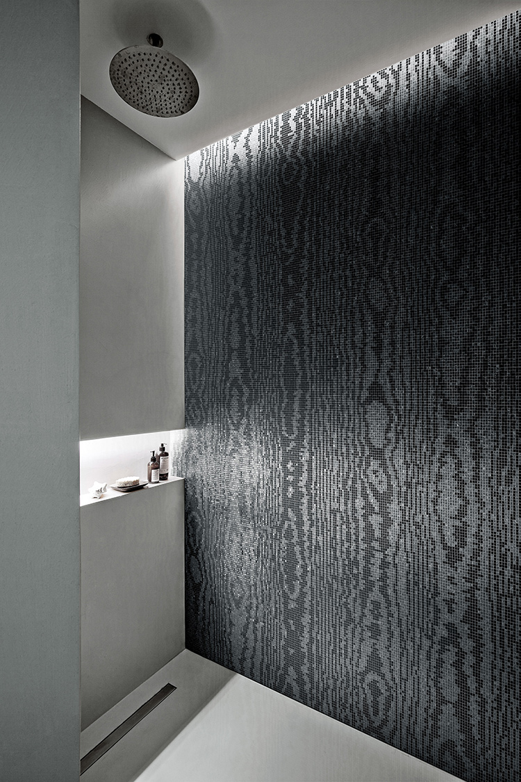 Moire Black Mosaic designed by Greg Natale