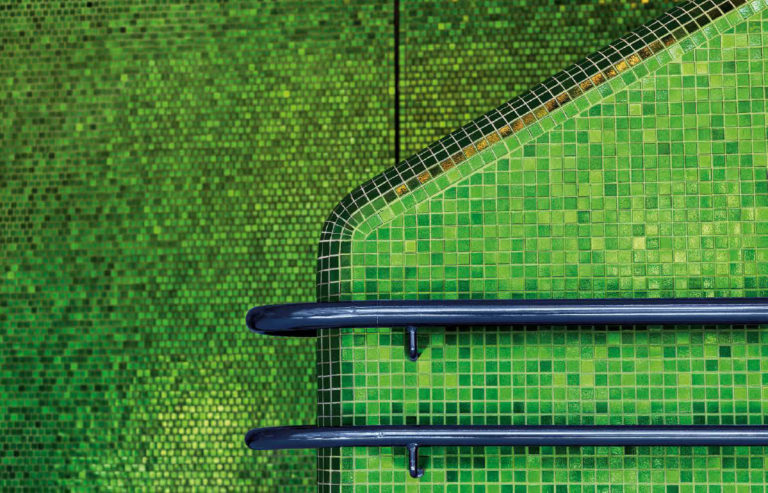 The Bisazza Iridescent Mosaic Tiles In Detail