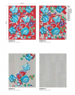 Floral Mosaic Pattern Affresco