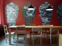 Timeless Mosaic Pattern Blue Vases