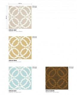 Modern Mosaic Pattern Circles