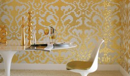 Damasco Oro Giallo Mosaic Pattern