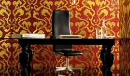 Damasco Rosso Oro Mosaic Pattern