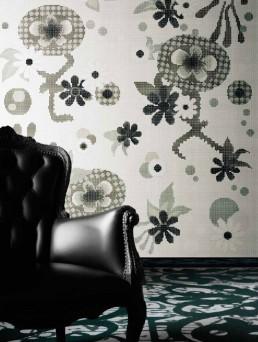 Floral Mosaic Pattern Daylight Garden