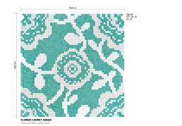 Floral Mosaic Pattern Flower Carpet
