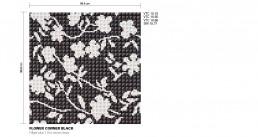 Floral Mosaic Pattern Flower Corner