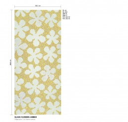 Floral Mosaic Pattern Glass Flowers
