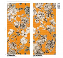 Floral Mosaic Pattern Hanami