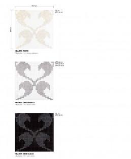Modern Mosaic Pattern Hearts