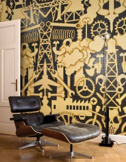 Modern Mosaic Pattern Industry Amber