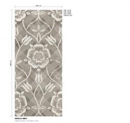 Floral Mosaic Pattern Insula Grey
