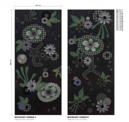 Floral Mosaic Pattern Moonlight Garden
