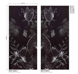 Floral Mosaic Pattern Night Vision