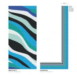 ONDE 20 BLU Swimming Pool Mosaic Pattern