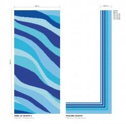 ONDE 20 CELESTE Swimming Pool Mosaic Pattern