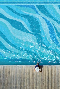 Pool Mosaic Onde Blu/Foulard Blu