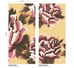 Floral Mosaic Pattern Peonies