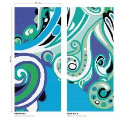 Modern Mosaic Pattern Pizzo Blu