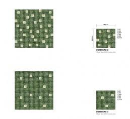 Floral Mosaic Pattern Pratoline