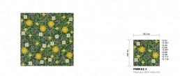Floral Mosaic Pattern Primule