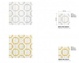 Modern Mosaic Pattern Rings