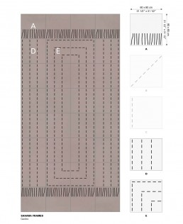Trame ceramic flooring Sahara Frames