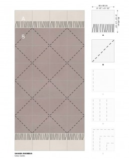 Trame ceramic flooring Sahara Rhombus