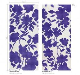 Floral Mosaic Pattern Shadow